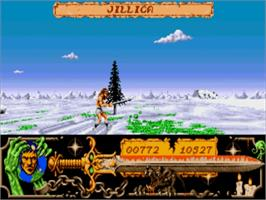 In game image of Death Bringer on the Commodore Amiga.