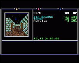 In game image of Death Knights of Krynn on the Commodore Amiga.