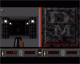 In game image of Death Mask on the Commodore Amiga.