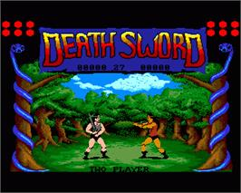 In game image of Death Sword on the Commodore Amiga.