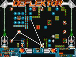 In game image of Deflektor on the Commodore Amiga.
