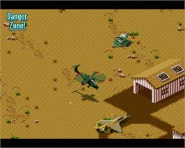 In game image of Desert Strike: Return to the Gulf on the Commodore Amiga.