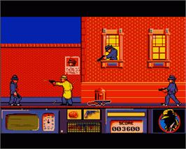 In game image of Dick Tracy: The Crime-Solving Adventure on the Commodore Amiga.