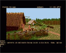 In game image of Die Drachen von Laas on the Commodore Amiga.