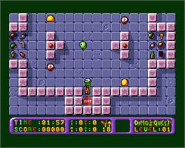 In game image of Dimo's Quest on the Commodore Amiga.