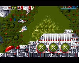 In game image of Disposable Hero on the Commodore Amiga.
