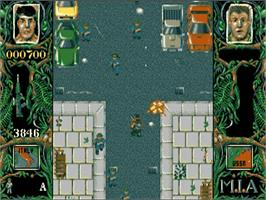 In game image of Dogs of War on the Commodore Amiga.