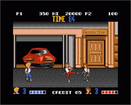 In game image of Double Dragon on the Commodore Amiga.