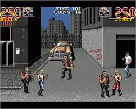 In game image of Double Dragon 3 - The Rosetta Stone on the Commodore Amiga.