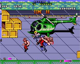 In game image of Double Dragon II - The Revenge on the Commodore Amiga.