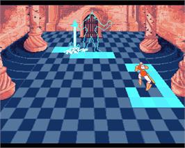 In game image of Dragon's Lair 2 on the Commodore Amiga.
