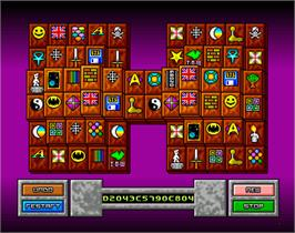 In game image of Dragon Tiles on the Commodore Amiga.