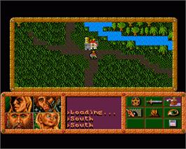 In game image of Dragonflight on the Commodore Amiga.