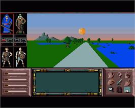 In game image of Drakkhen on the Commodore Amiga.