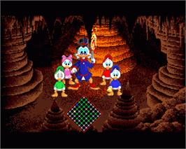 In game image of Duck Tales: The Quest for Gold on the Commodore Amiga.