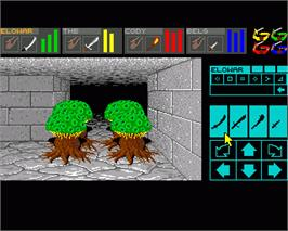 In game image of Dungeon Master: Chaos Strikes Back - Expansion Set #1 on the Commodore Amiga.