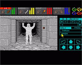 In game image of Dungeon Master II: The Legend of Skullkeep on the Commodore Amiga.