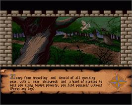 In game image of Dungeon Quest on the Commodore Amiga.
