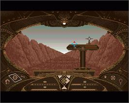In game image of Eco Phantoms on the Commodore Amiga.