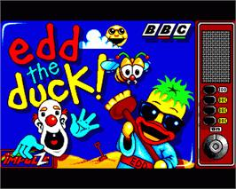 In game image of Edd the Duck on the Commodore Amiga.
