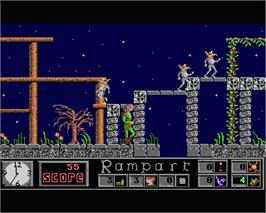 In game image of Elf on the Commodore Amiga.