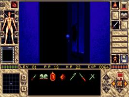 In game image of Elvira 2 on the Commodore Amiga.