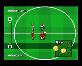 In game image of Empire Soccer 94 on the Commodore Amiga.