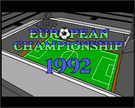 In game image of European Championship 1992 on the Commodore Amiga.