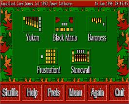 In game image of Excellent Card Games on the Commodore Amiga.