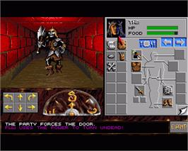 In game image of Eye of the Beholder II: The Legend of Darkmoon on the Commodore Amiga.
