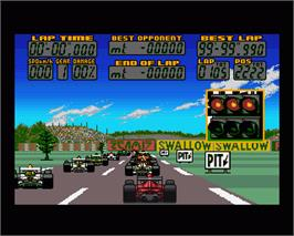 In game image of F17 Challenge on the Commodore Amiga.
