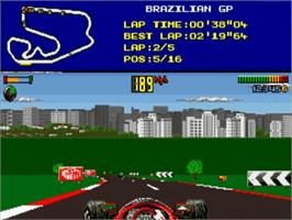 In game image of F1 World Championship Edition on the Commodore Amiga.