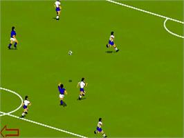 In game image of FIFA International Soccer on the Commodore Amiga.