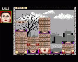 In game image of Faces on the Commodore Amiga.