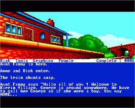 In game image of Famous Five: Five on a Treasure Island on the Commodore Amiga.