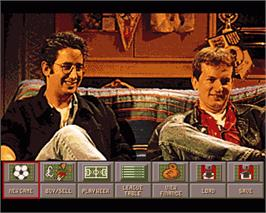 In game image of Fantasy Manager: The Computer Game on the Commodore Amiga.