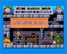 In game image of Fantasy World Dizzy on the Commodore Amiga.