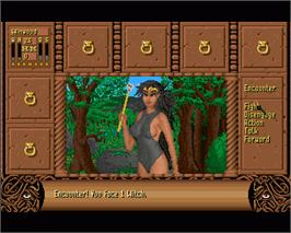 In game image of Fate: Gates of Dawn on the Commodore Amiga.