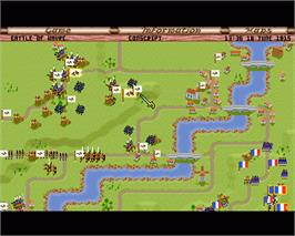 In game image of Fields of Glory on the Commodore Amiga.