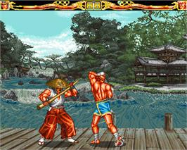 In game image of Fightin' Spirit on the Commodore Amiga.