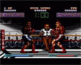 In game image of Final Blow on the Commodore Amiga.