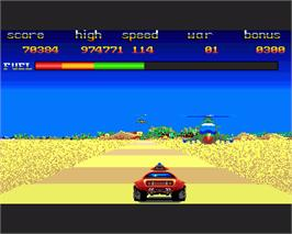 In game image of Fire and Forget on the Commodore Amiga.