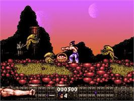 In game image of First Samurai on the Commodore Amiga.