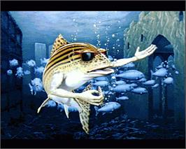 In game image of Fish on the Commodore Amiga.