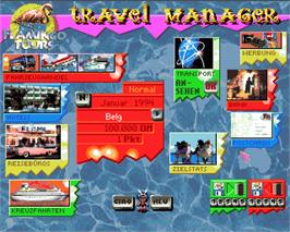 In game image of Flamingo Tours on the Commodore Amiga.