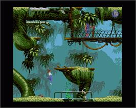 In game image of Flashback on the Commodore Amiga.