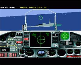 In game image of Flight of the Intruder on the Commodore Amiga.