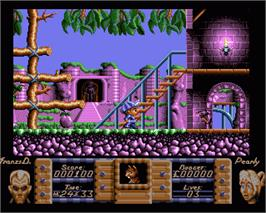 In game image of Flimbo's Quest on the Commodore Amiga.