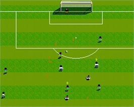 In game image of Football Glory on the Commodore Amiga.