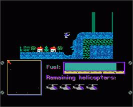 In game image of Fortress Underground on the Commodore Amiga.
